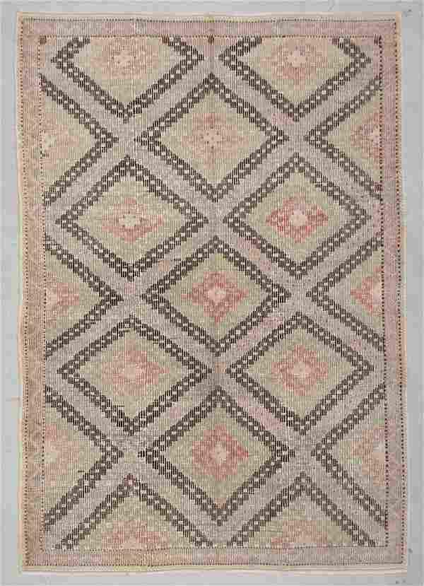 "Modern Turkish Kilim: 6'4"" x 9'1"" (193 x 277 cm)"