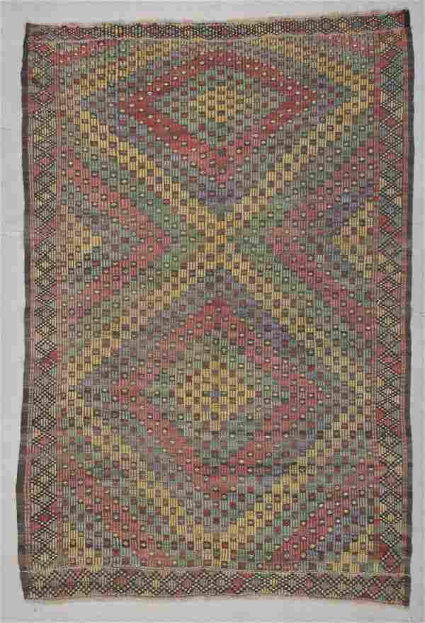 "Modern Turkish Kilim: 5'9"" x 8'5"" (175 x 257 cm)"