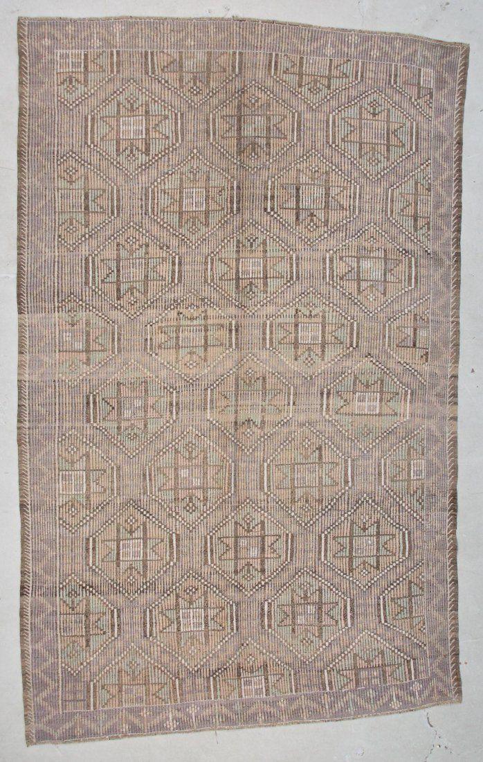 "Modern Turkish Kilim: 6'6"" x 10'3"" (198 x 312 cm)"