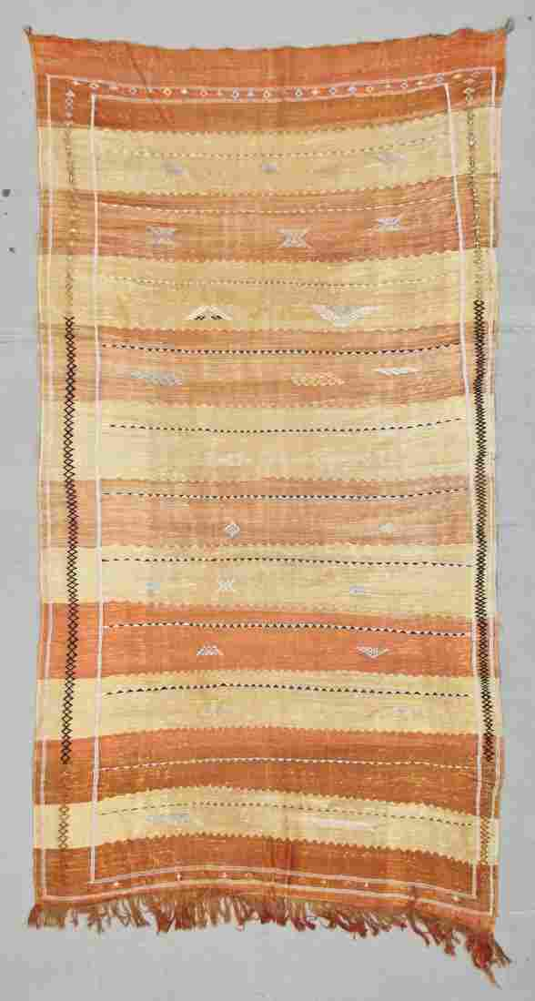 "Modern Moroccan Kilim: 3' x 6'9"" (91 x 206 cm)"