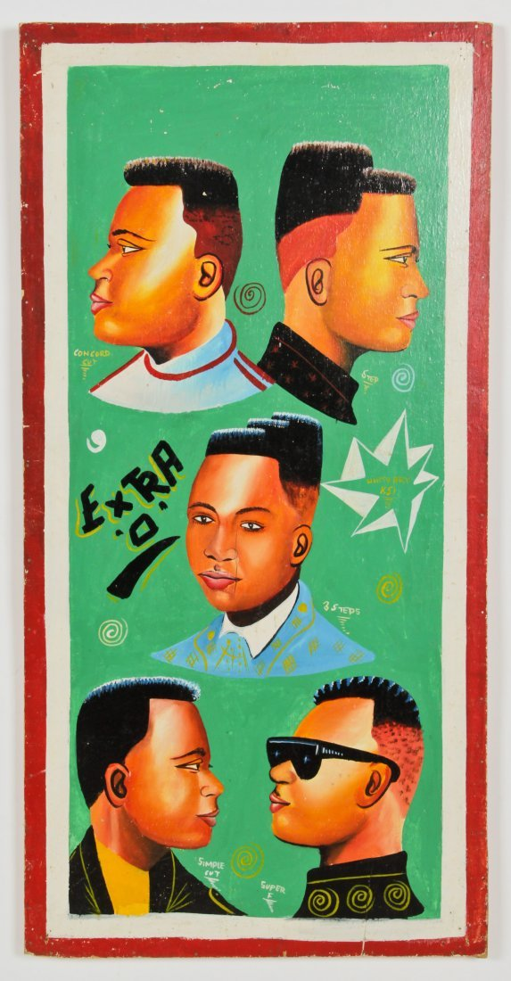 African Hand-painted Coiffeur Sign