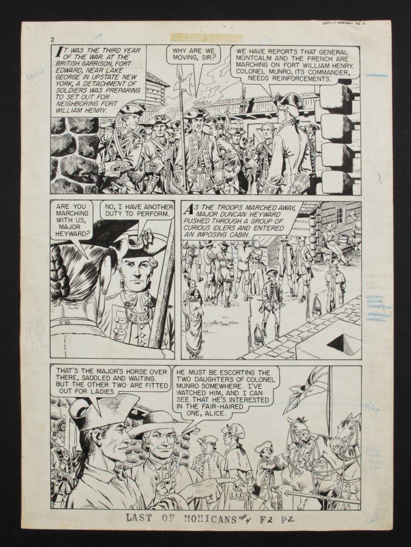 "John Severin ""Last of the Mohicans"" Original Comic Art"