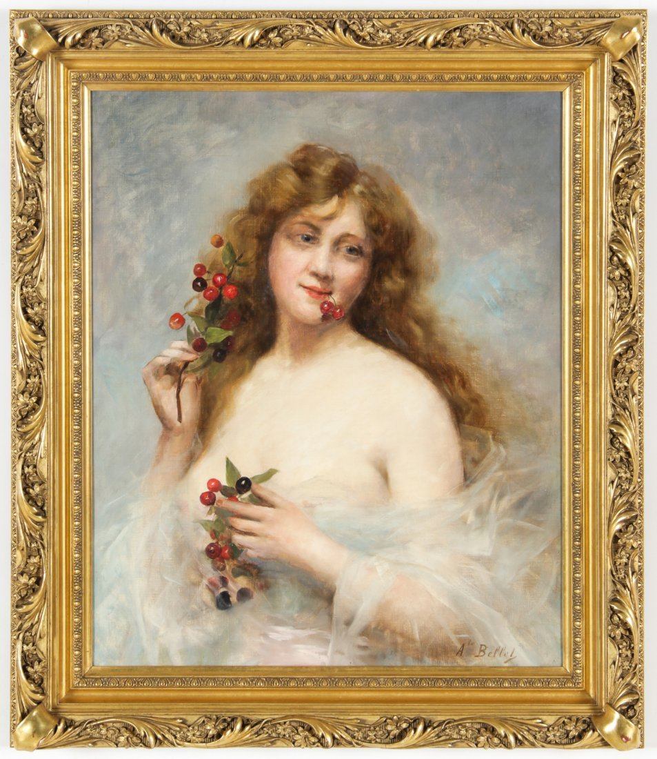 Auguste Emile Bellet (French, 1856-1911) Portrait of a