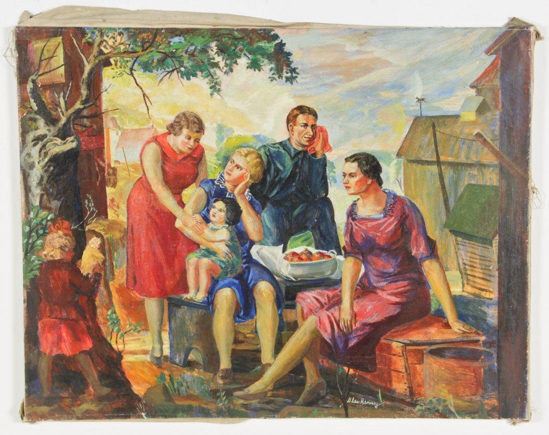 Glen Ranney (American, 1896-1959) Oil Painting