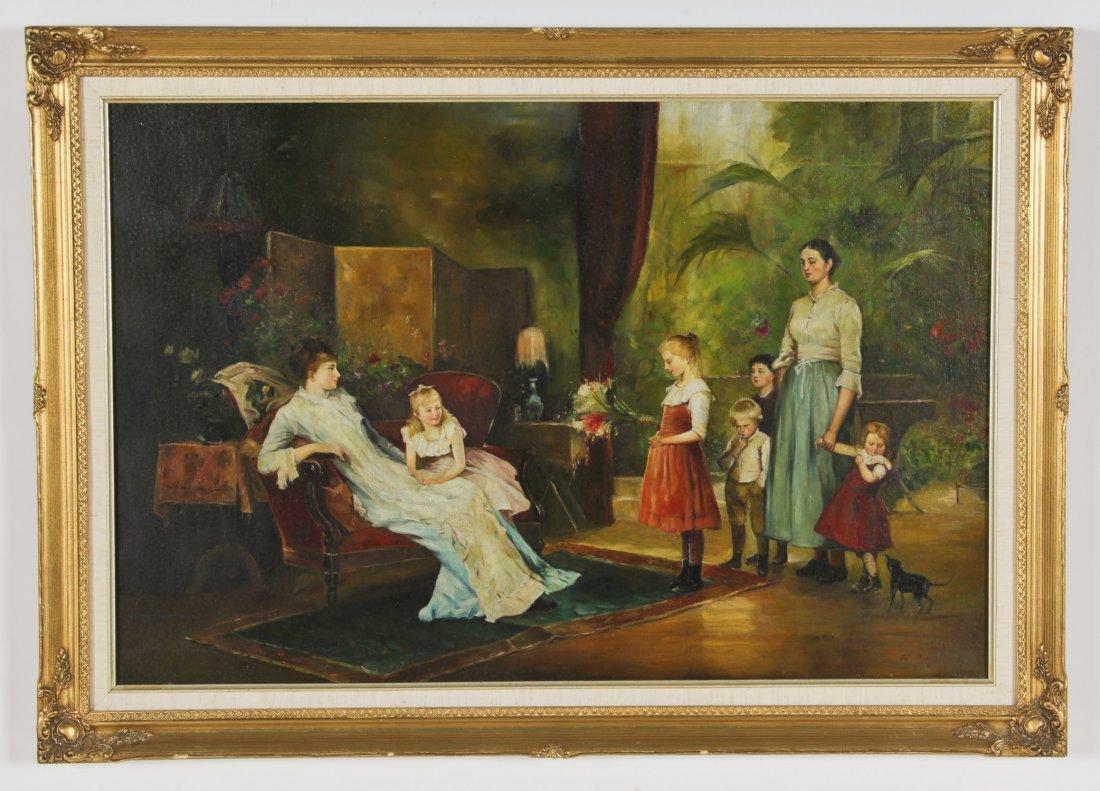 N. Henry Bingham (British, 20th c.) Oil painting