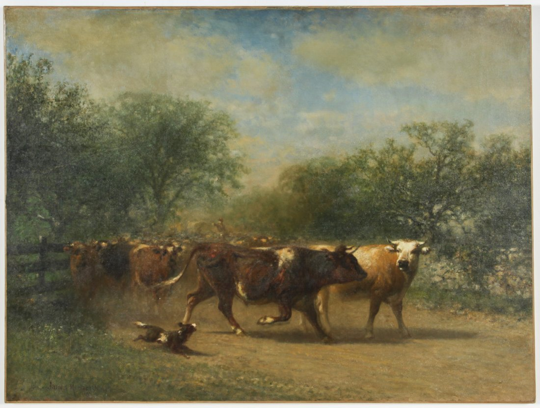James McDougal Hart (American, 1828-1901) Painting