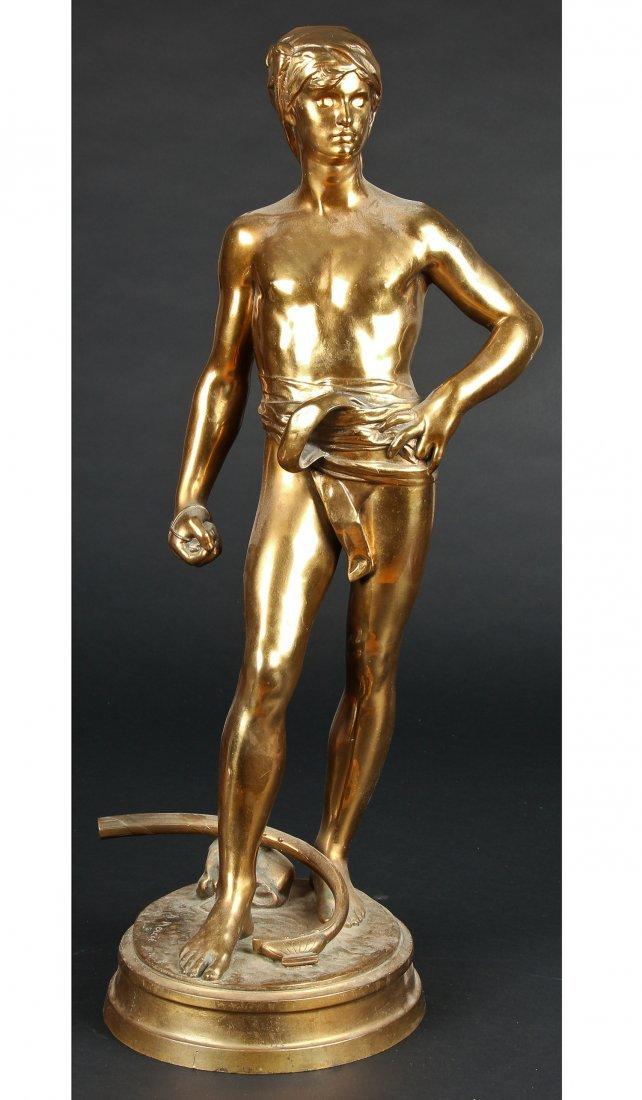 David Avant Le Combat Bronze Figure