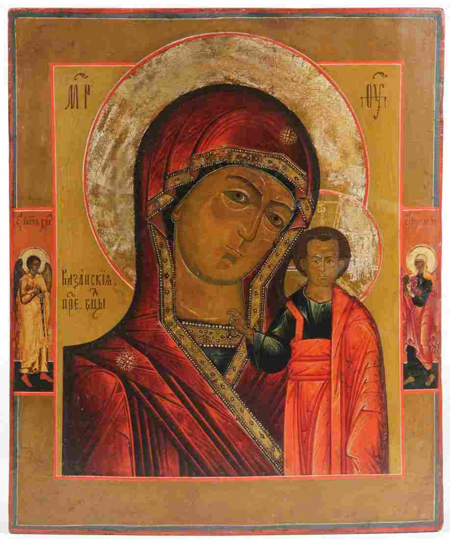 Antique Russian Icon, 19th c., Mother of God