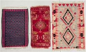 3 Turkish/Persian Small Rugs