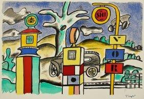 "Fernand Leger (french, 1881-1955) ""la Pompe A Essence"""