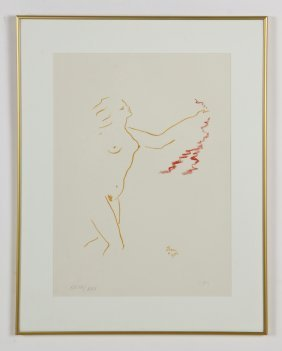 Jean Cocteau (french, 1889-1963) Untitled (nude), 1954