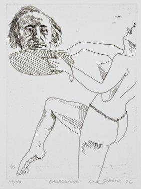 "Red Grooms (american, B. 1937) ""baudelaire"""