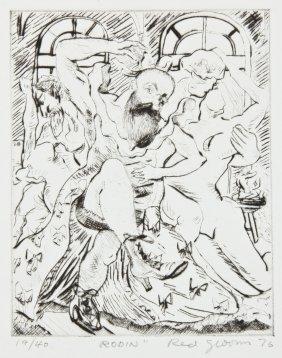"Red Grooms (american, B. 1937) ""rodin"""