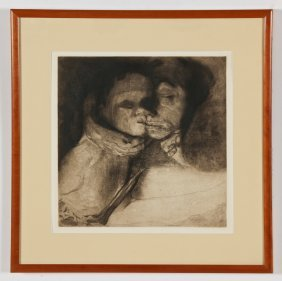 "Kathe Kollwitz (german, 1867-1945) ""tod, Frau Und Kind"""