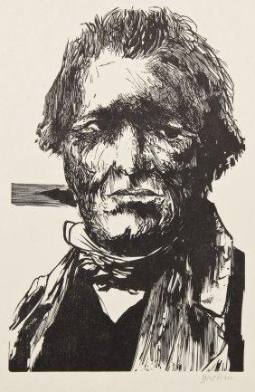 "Leonard Baskin (american, 1922-2000) ""camille Corot"","
