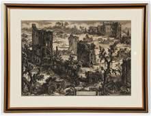 """Giovanni Battista Piranesi (1720-1778) """"View of the"""