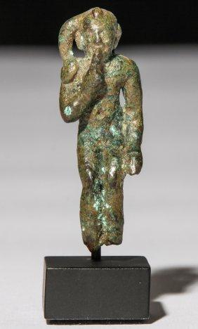 Ancient Ptolemaic Bronze Harpocrates Figure