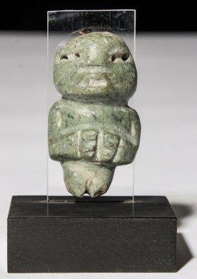 Ancient Pre Columbian Mezcala Stone Idol