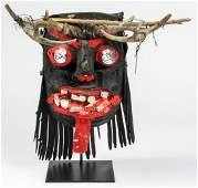 Vintage Mexican Pastorelas Dance Mask, Guerrero