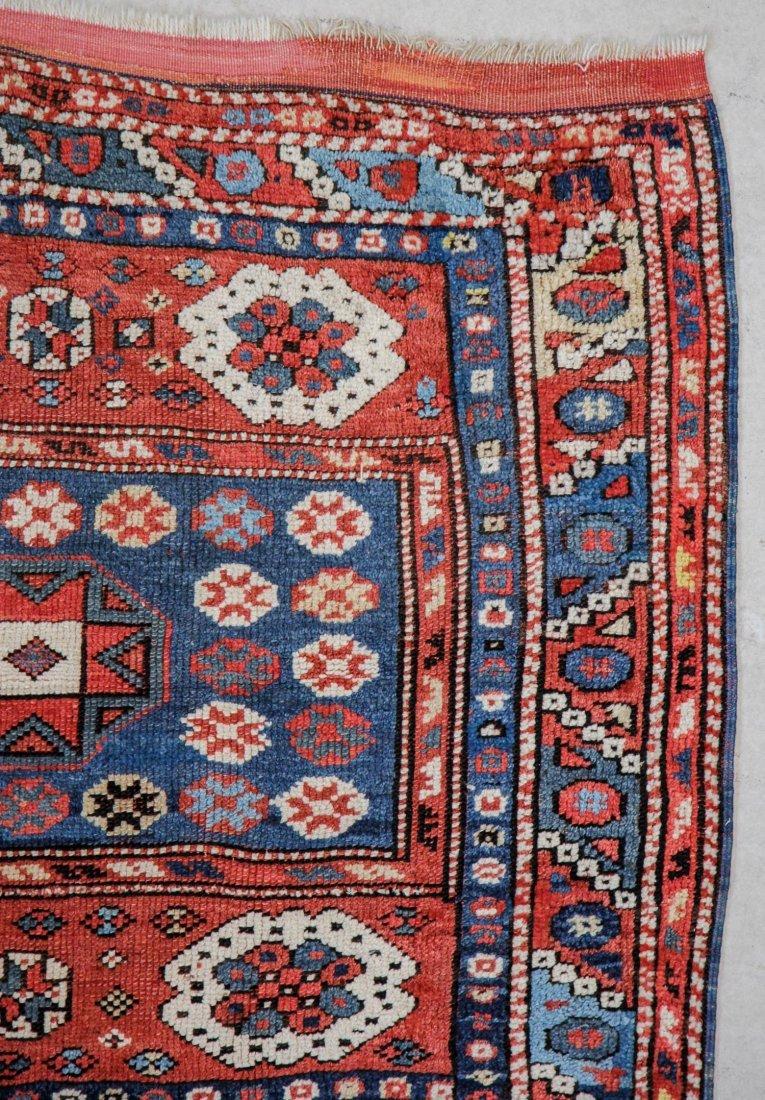 """Antique Turkish Bergama Rug: 3' x 2'9"""" (91 x 84 cm) - 2"""