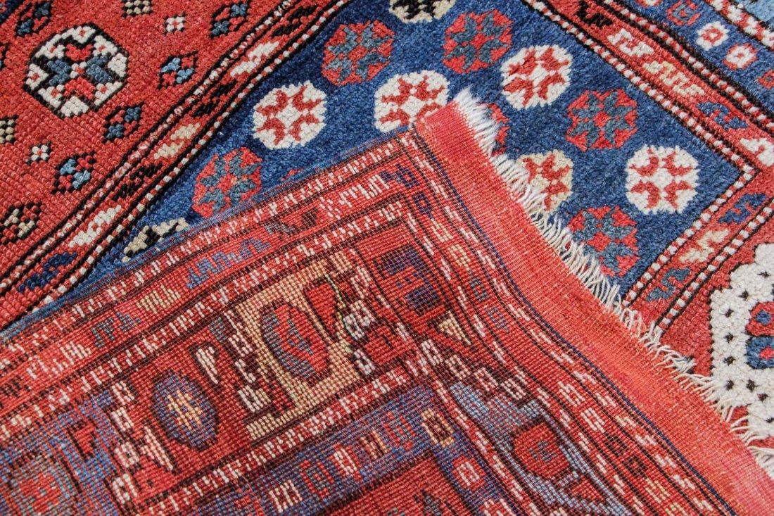 """Antique Turkish Bergama Rug: 3' x 2'9"""" (91 x 84 cm) - 4"""