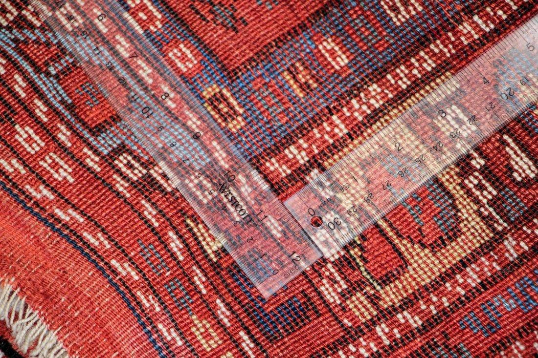 """Antique Turkish Bergama Rug: 3' x 2'9"""" (91 x 84 cm) - 5"""