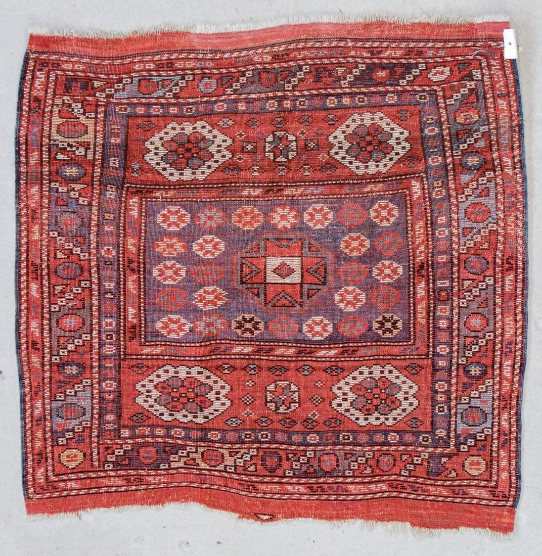 """Antique Turkish Bergama Rug: 3' x 2'9"""" (91 x 84 cm) - 6"""