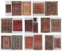 Collection of 18 Estate Antique Oriental Rugs