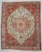 """Antique Serapi Rug: 11'6"""" x 14' 1"""" (429 x 351 cm)"""