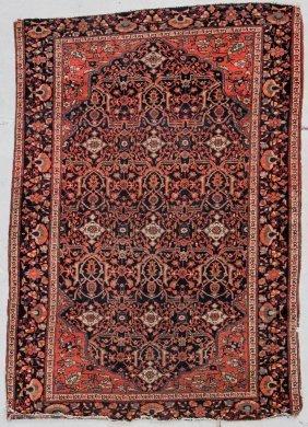 "Antique Sarouk Ferahan Rug: 3'6"" X 5' (107 X 152 Cm)"