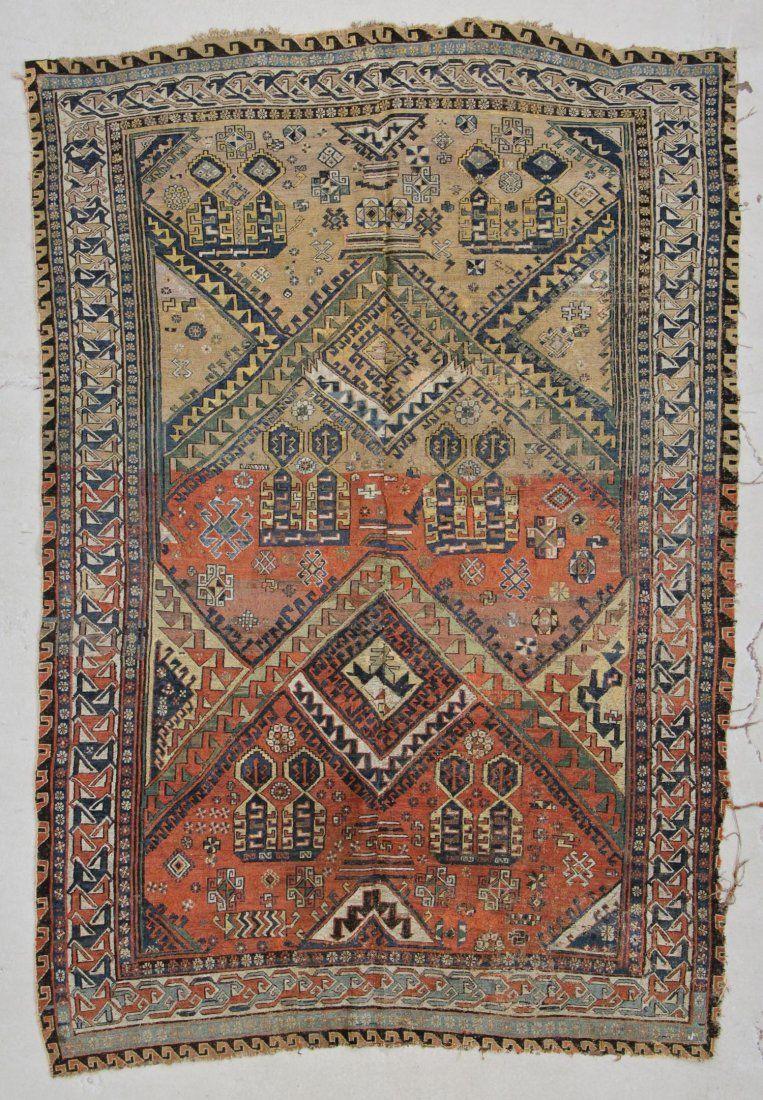 """Antique Caucasian Dragon Sumakh Rug: 5'9"""" x 8'2"""" (175 x"""