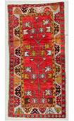 "Semi-Antique Turkish Village Rug: 3'3"" x 6'5"" (99 x 196"