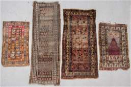 4 Antique Persian/Turkish/Caucasian Rugs