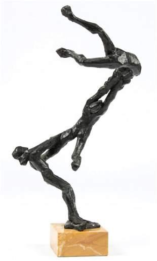 Peter Rockwell (American) Acrobatic Bronze Sculpture