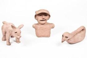 Burgess Dulaney (1914-2001) Three Clay Sculptures