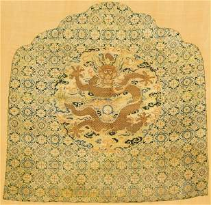 18th C. Chinese Imperial Silk Dragon Cover