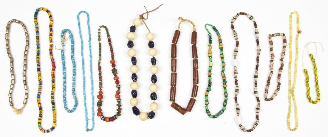 12 Strands Venetian/African Trade Beads