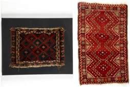 Antique Kurd Jaffe and Turkish Yastik Rugs