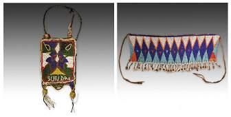 2 African Beaded Artifacts: Kirdi and Yoruba People