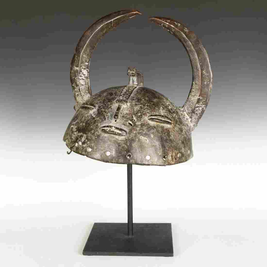 Senufo Bronze Helmet