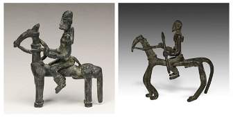 2 African Figural Equestrian Artifacts