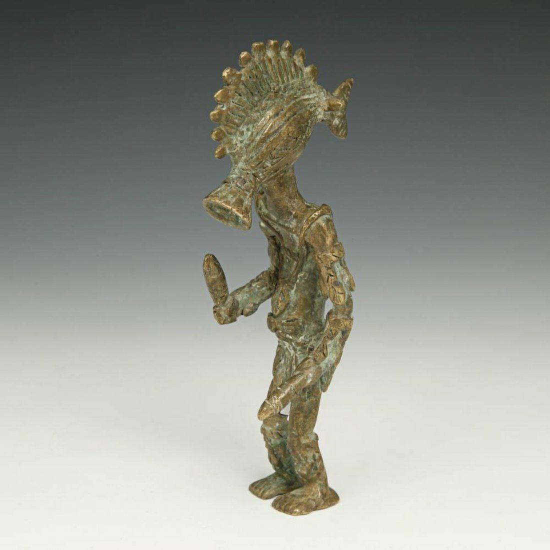 Senufo Figural Bronze Dancer