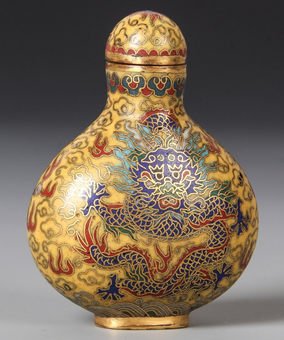 Chinese Cloissone Snuff Bottle