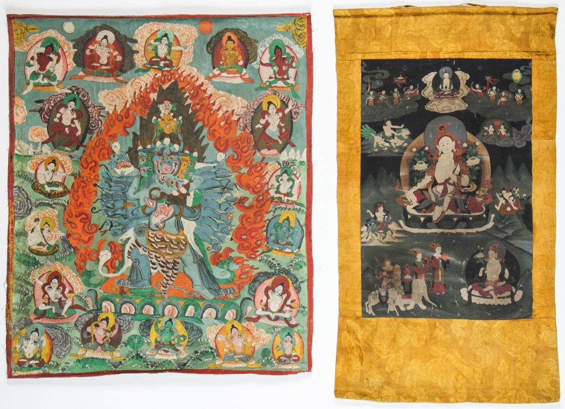2 Old Tibetan Thangkas
