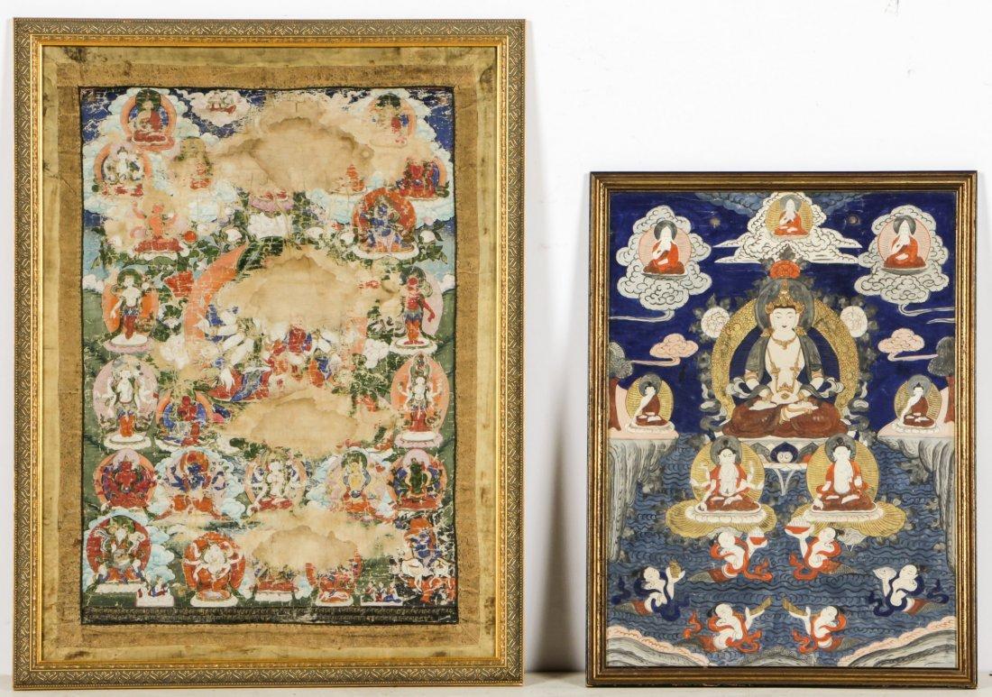 Two Antique Sino-Tibetan Thangkas