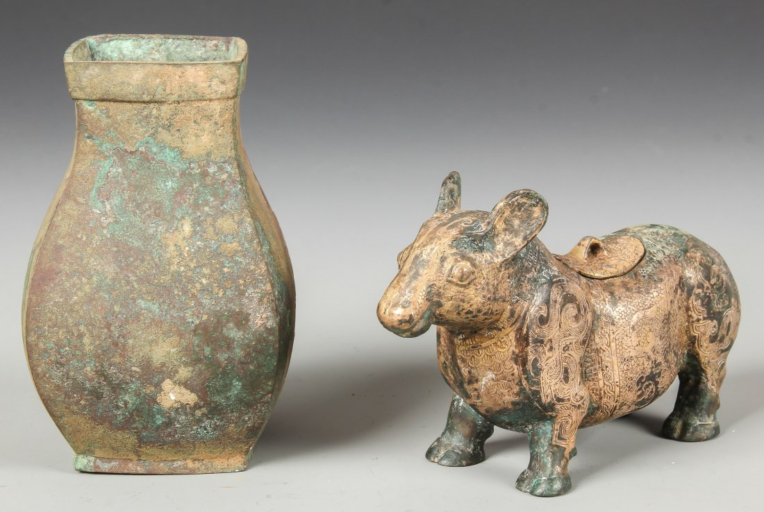 2 Archaistic Chinese Bronze Vessels