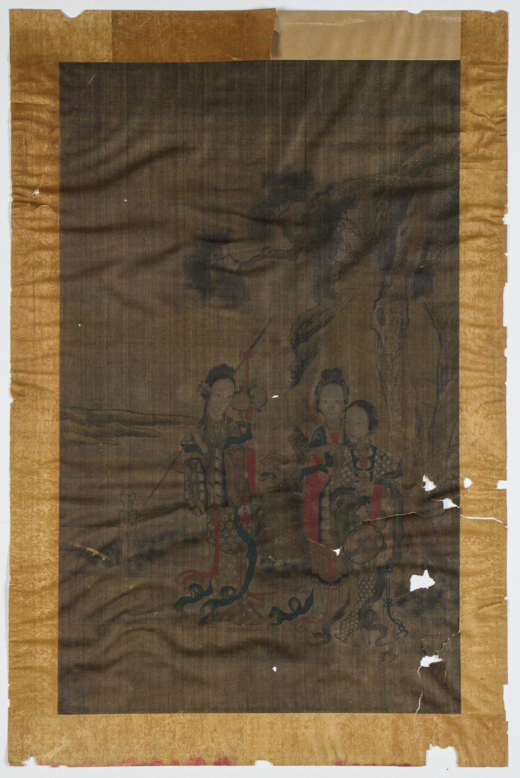 Chinese Qing Dynasty Painting of Meiren