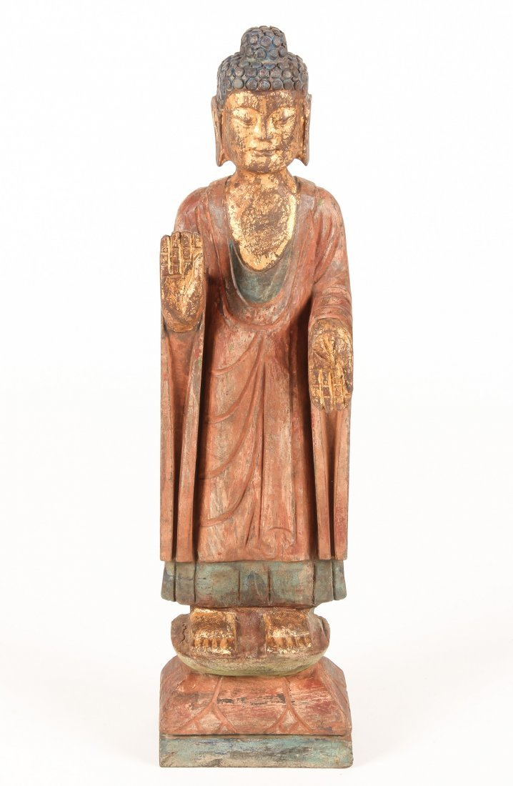 Chinese Carved Stone Buddha