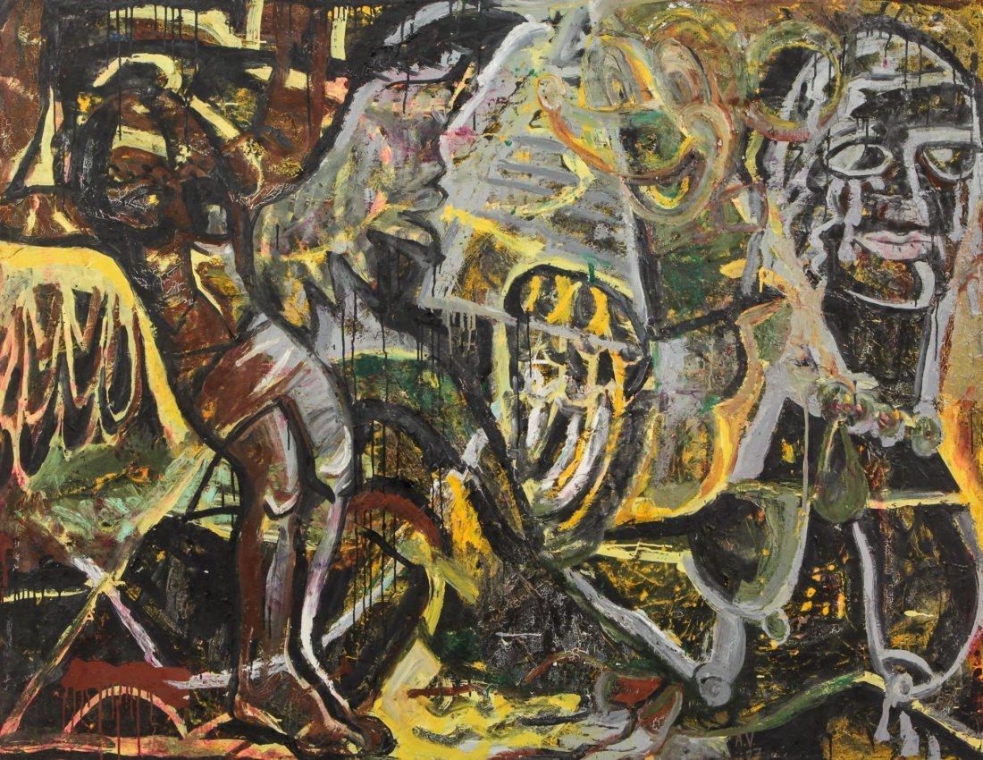 Albert Venegas (20th c.) Untitled Painting, 1987