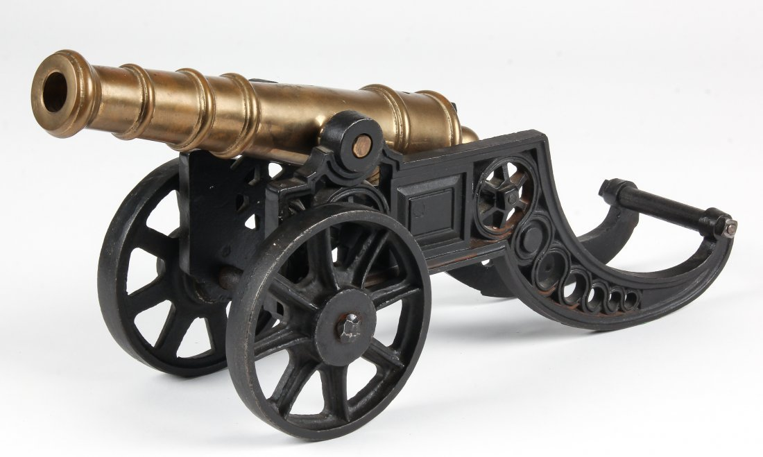 Iron and Brass Signal Cannon Model